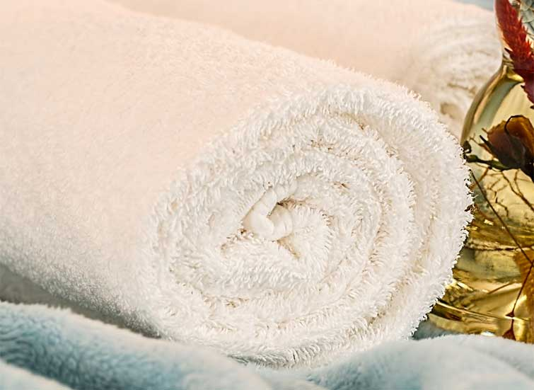Massage towels and oils